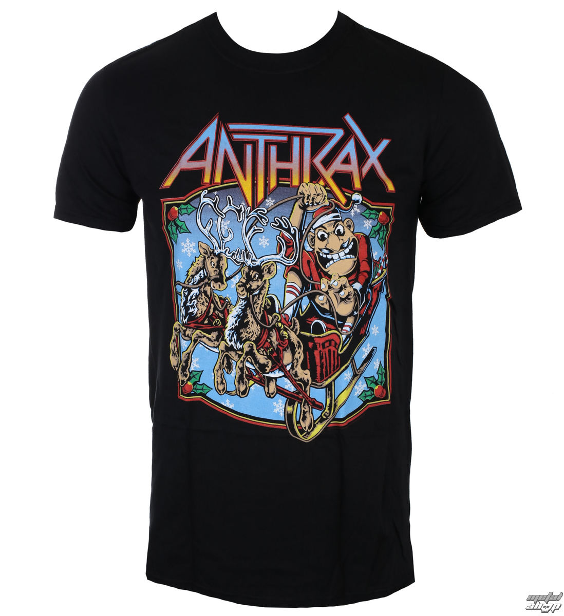 8b3aacdd73e8 tričko pánské Anthrax - Christmas Is Coming - ROCK OFF - ANTHTEE13MB -  metal-shop.eu