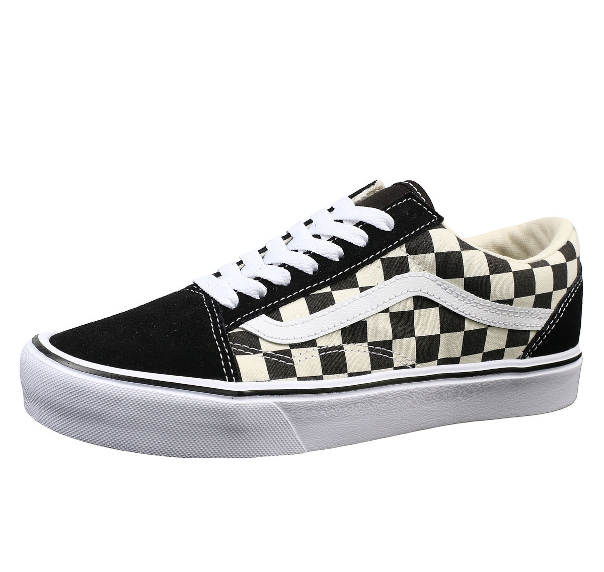 (Sold out) boty VANS - UA OLD SKOOL LITE (Checkerboard) - Black  White 038f879e0a0