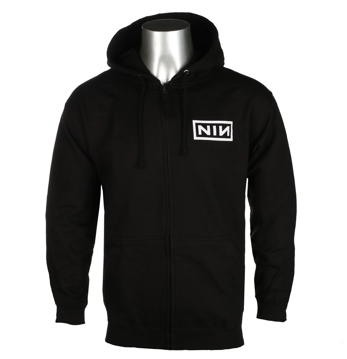 Nine Inch Nails Classic Black Logo NEW MENS ZIP UP HOODIE