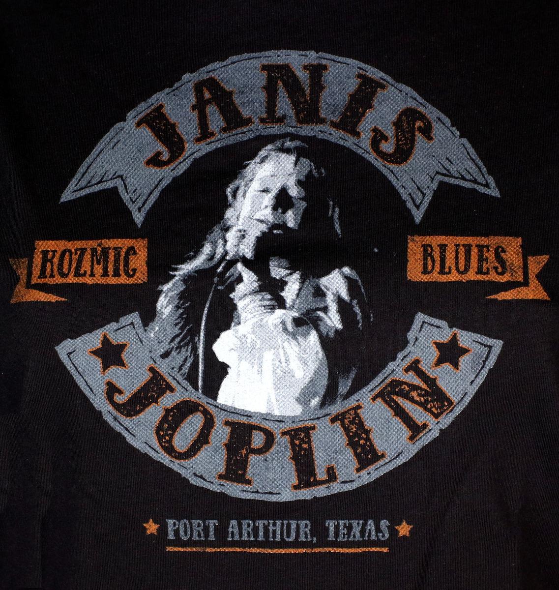 Janis Joplin V2 S-5XL poster T-SHIRT BLACK