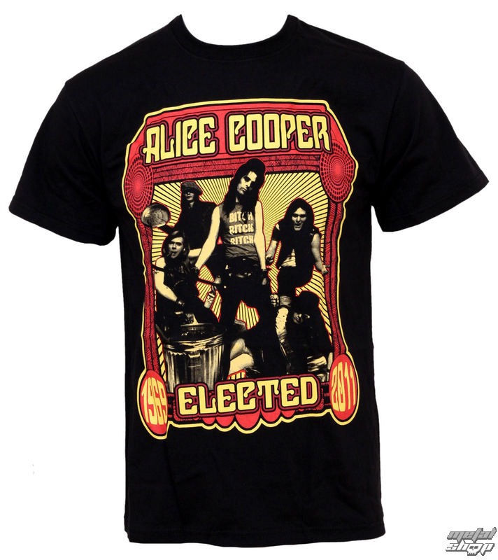 Alice Cooper Mens T-Shirt Elected Band