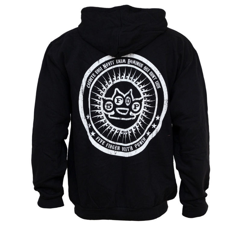 hoodie men with zipper Five Finger Death Punch - Knuckle - Bravado