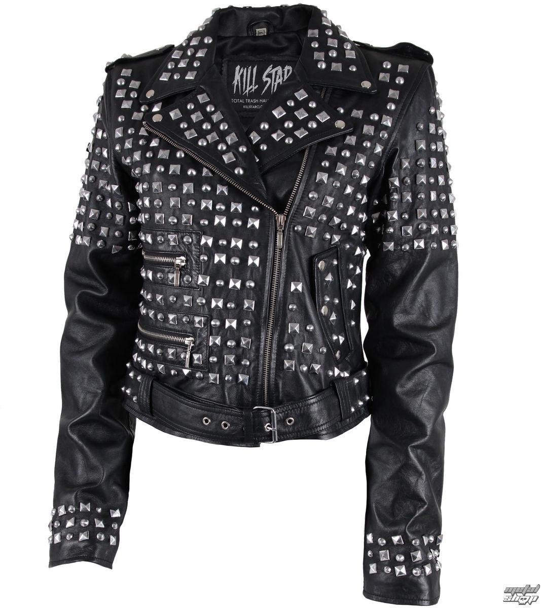 jacket women's (metal jacket) KILLSTAR - Studded Leather - Black