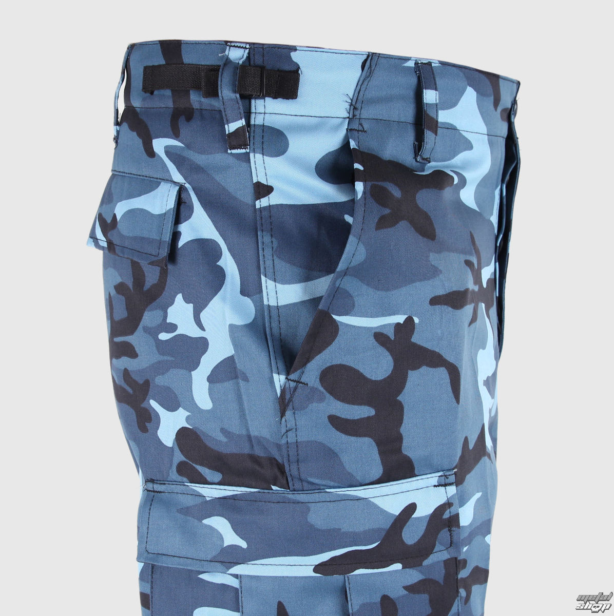 Blue camo pants for men