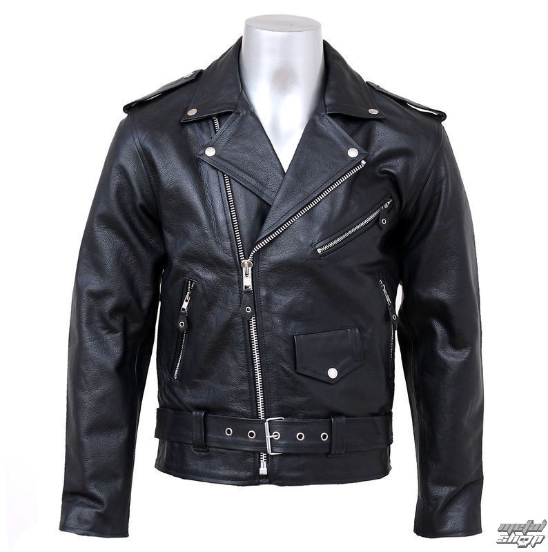 jacket , metal jacket NEW ROCK - Black Cow Leather - W.Jack2013