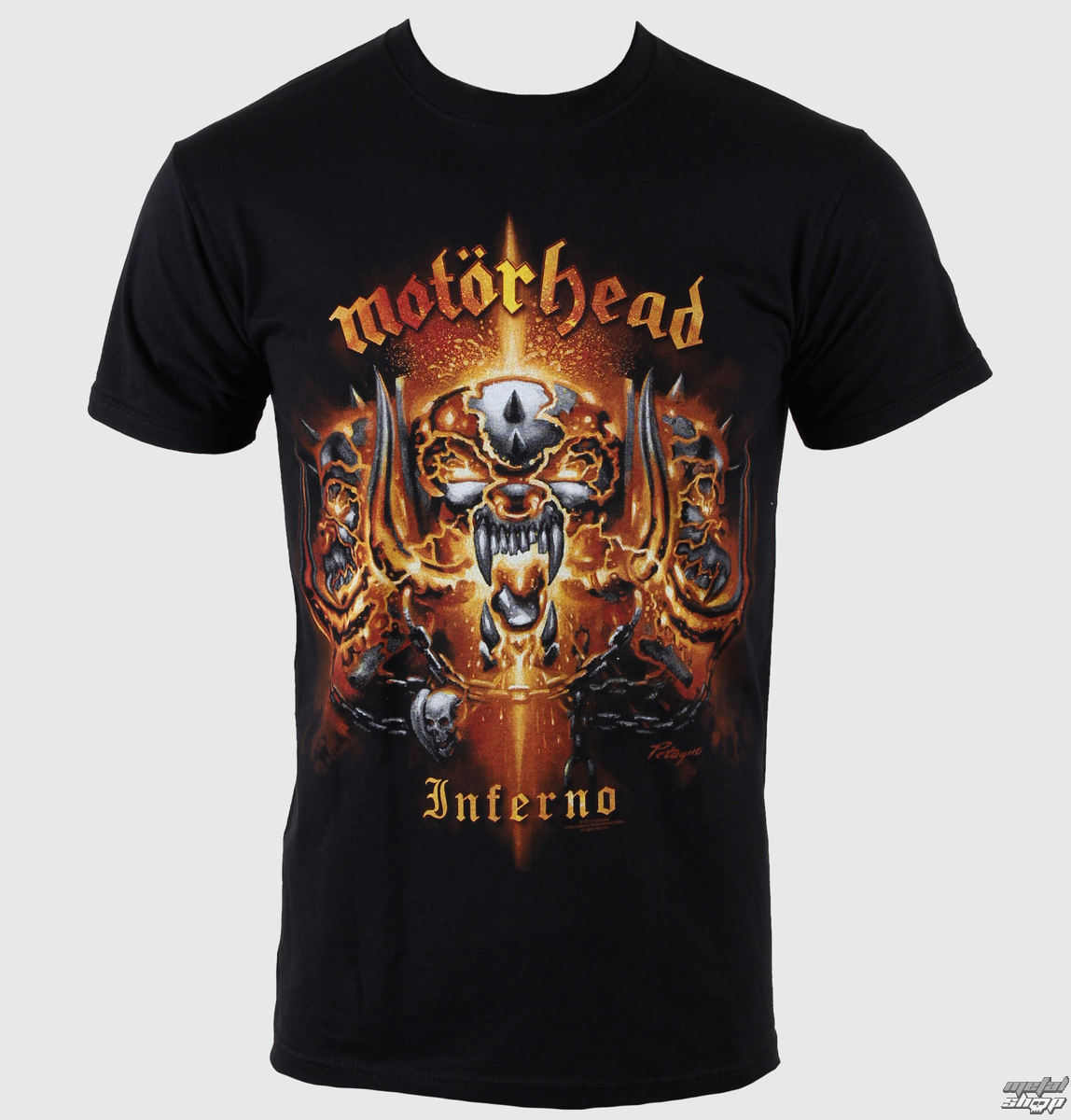 t shirt metal men 39 s mot rhead inferno rock off. Black Bedroom Furniture Sets. Home Design Ideas