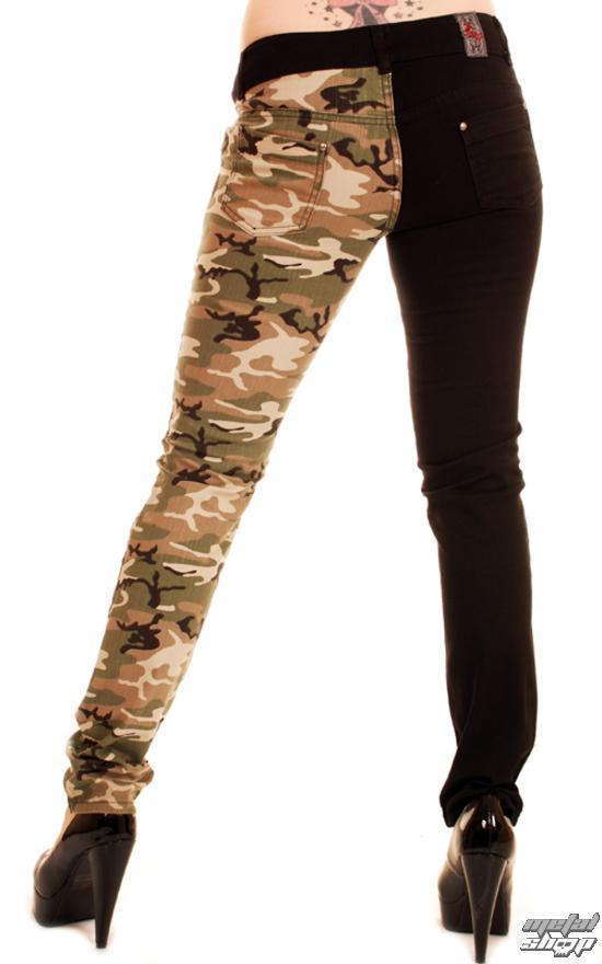Brilliant Pants Womens 3RDAND56th  Camo Split Leg Skinny  Blk  Camo  JM1197