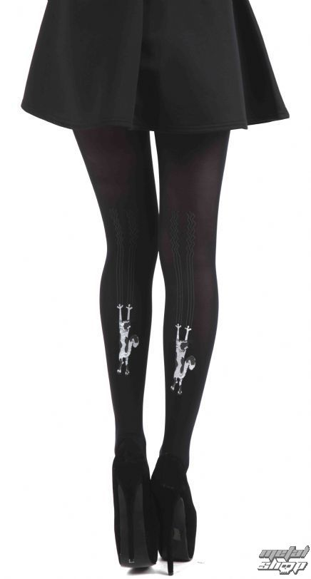 b58a01edab9 tights PAMELA MANN - Flocked Tights Climbing Cats - Black - 028 -  metal-shop.eu