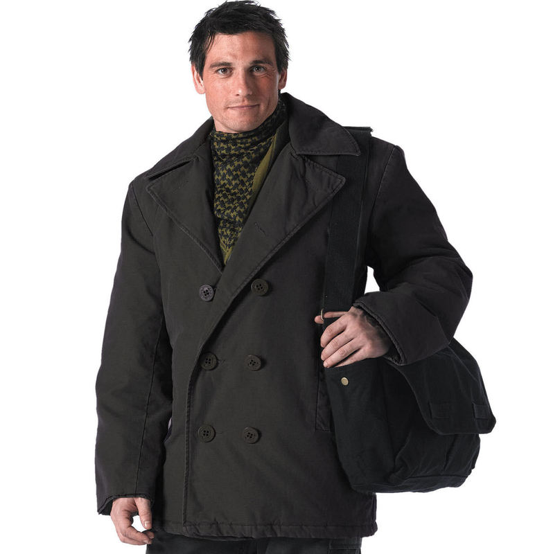 winter jacket men's - PEA COAT - ROTHCO - 7877 - metal-shop.eu