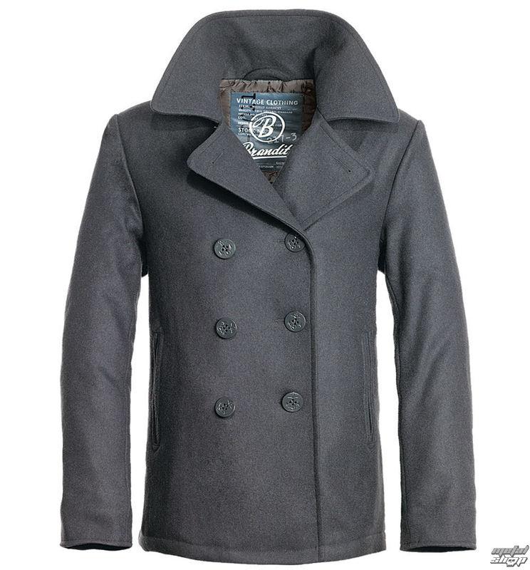 jacket men winter (COAT) BRANDIT - Pea Coat - Anthracite - 3109/5 ...