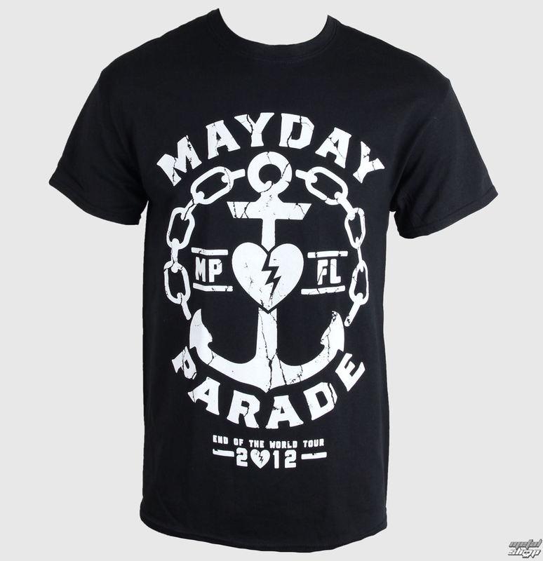 T Shirt Metal Mens Mayday Parade Anchor Plastic Head Ph7702