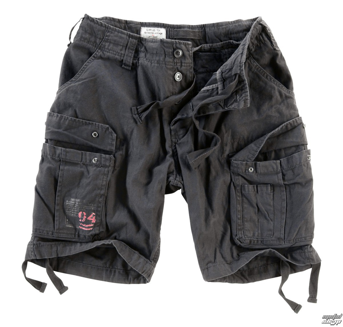 shorts men SURPLUS - Airborne Vintage - Black