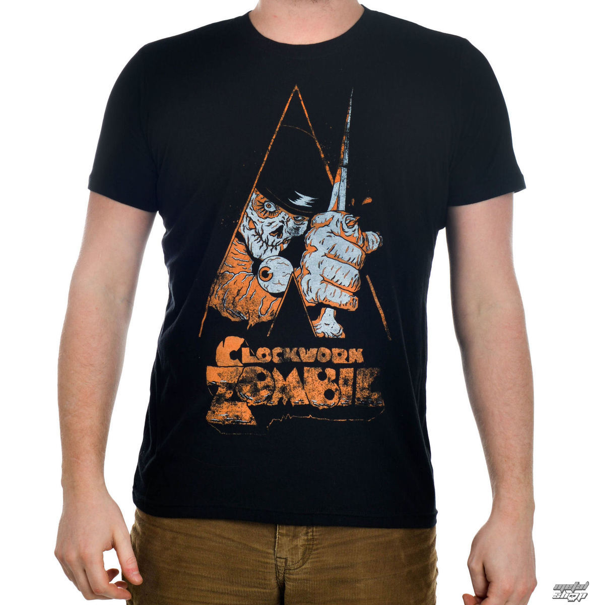 t-shirt gothic and punk men's - Clockwork Zombie - TOO FAST