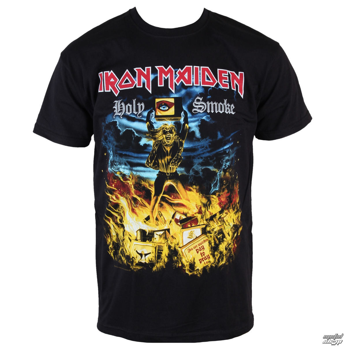 t-shirt metal men's Iron Maiden - Holy Smoke - ROCK OFF