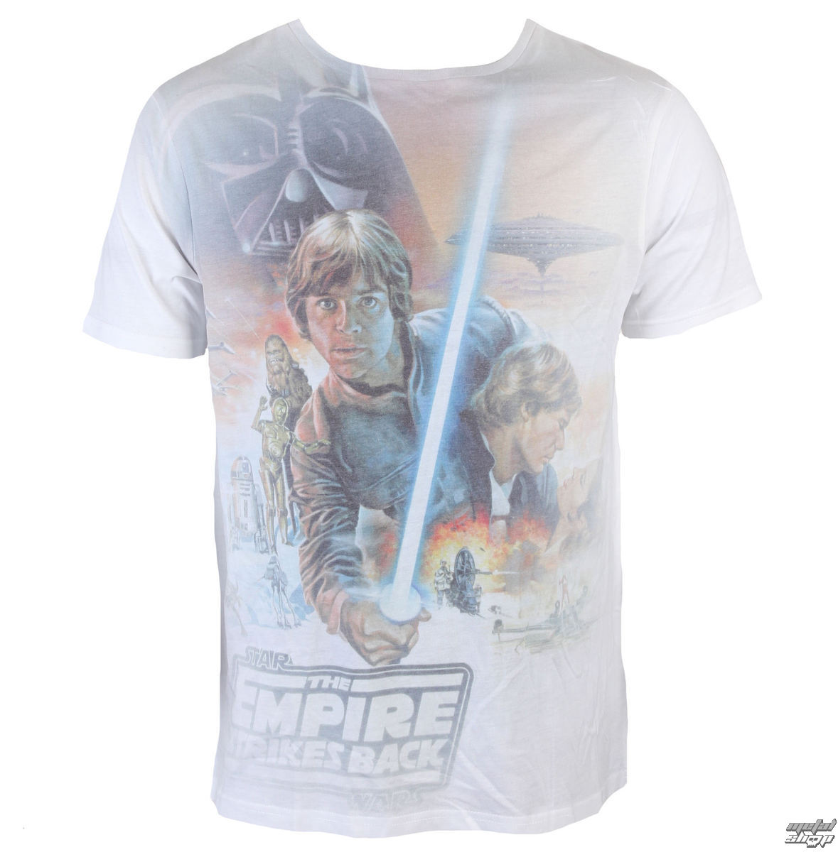 Star Wars Mens Darth Vader /& Luke Skywalker Fighting Shirt NWT M