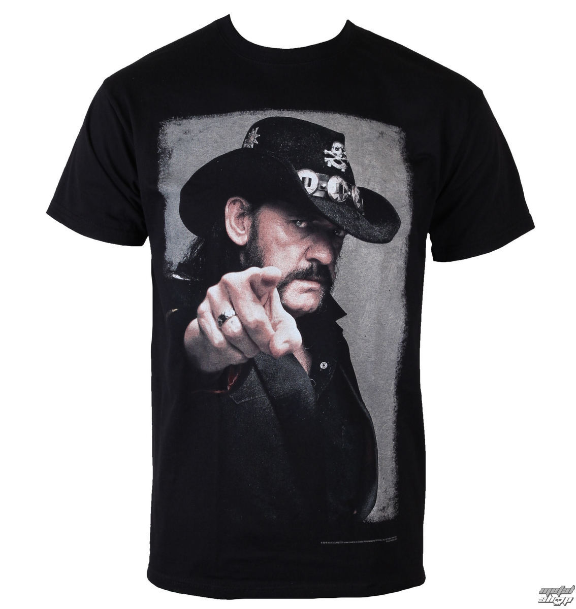 t shirt metal men 39 s mot rhead lemmy pointing photo. Black Bedroom Furniture Sets. Home Design Ideas