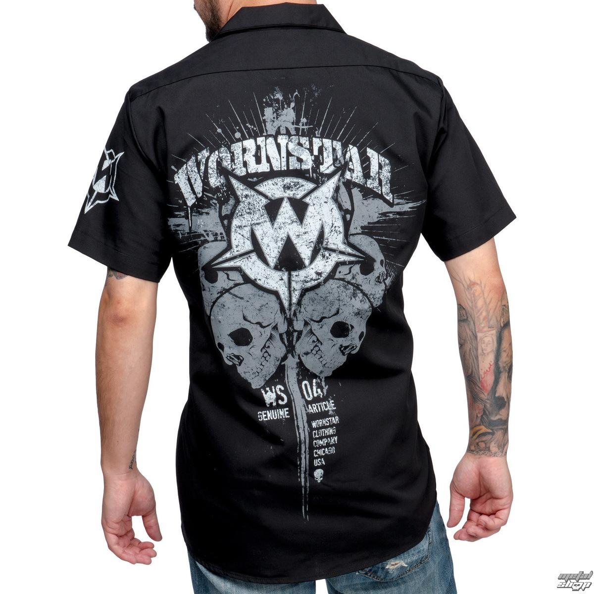 64ab13f4bf6 shirt men WORNSTAR - Cross - Black - WSS-CROS - metal-shop.eu