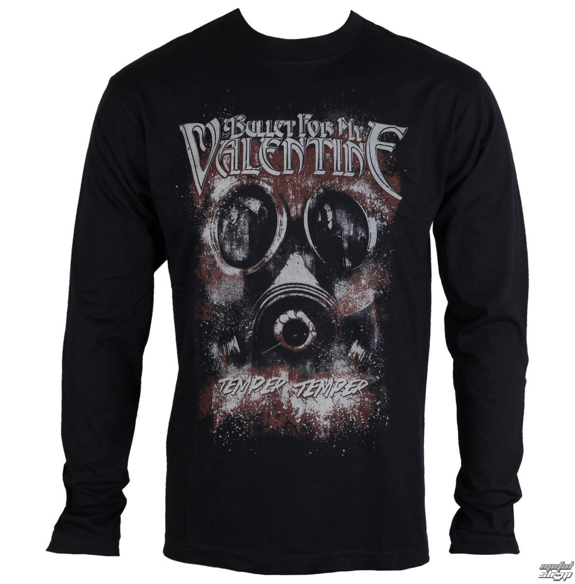 T Shirt Metal Men S Bullet For My Valentine Temper Temper Gas Mask