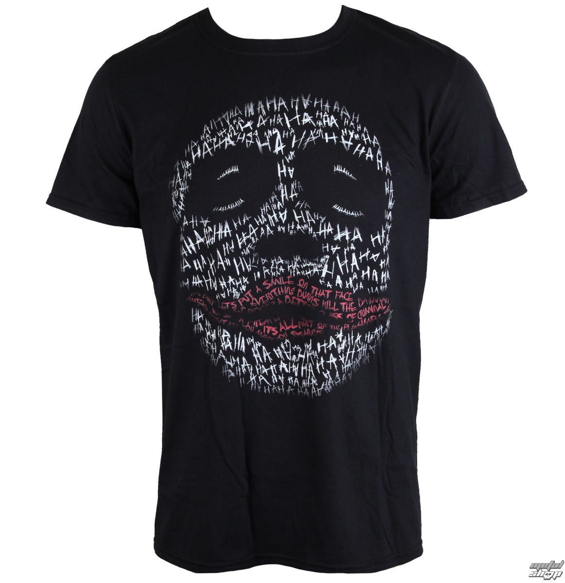 film t-shirt men's Batman - JOKER HA OUTLINE - LIVE NATION