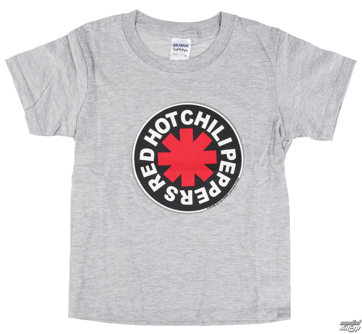 t-shirt metal men's children's Red Hot Chili Peppers - Logo in Circle Grey -