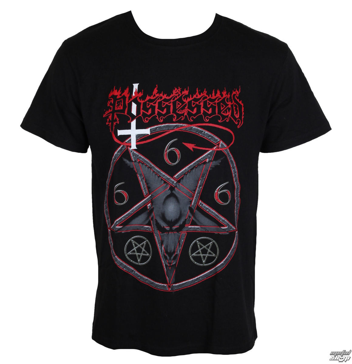 t-shirt metal men's Possessed - Goat Head - MASSACRE RECORDS