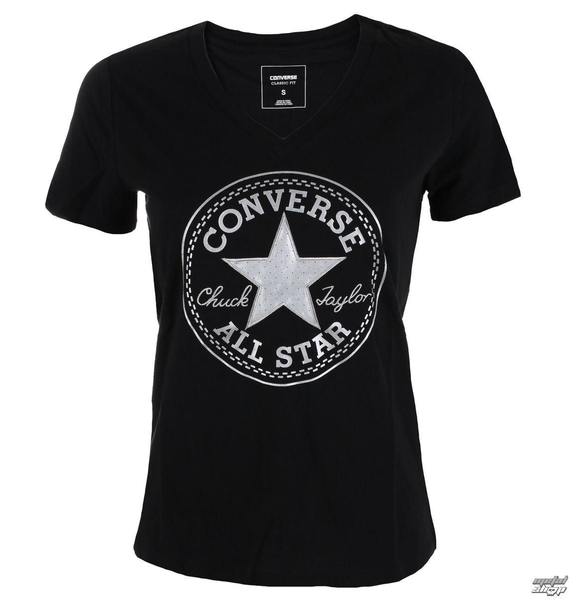 d9d9dcd813 tričko dámské CONVERSE - Metallic Chuck Patch Vneck - 10003630-A03 ...