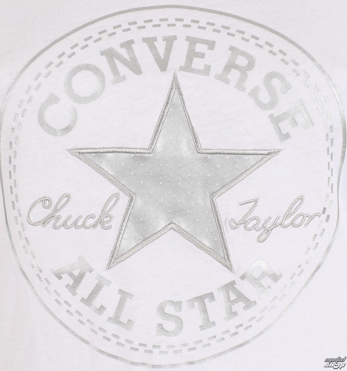 00e9edec3b tričko dámské CONVERSE - Metallic Chuck Patch Vneck - 10003630-A01 ...