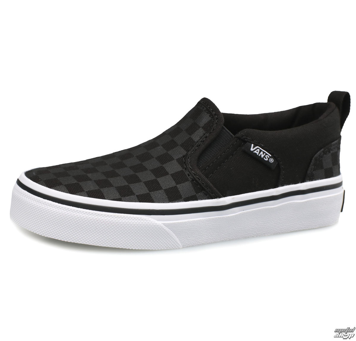 low sneakers children's - YT ASHER (Checker)Blk/Bl - VANS