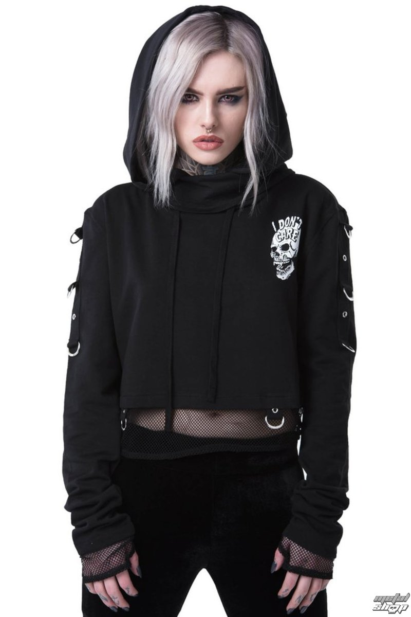 8eb599319d6 mikina dámská KILLSTAR - DON T Care - BLACK - K-HOD-F-3027 - metal-shop.eu