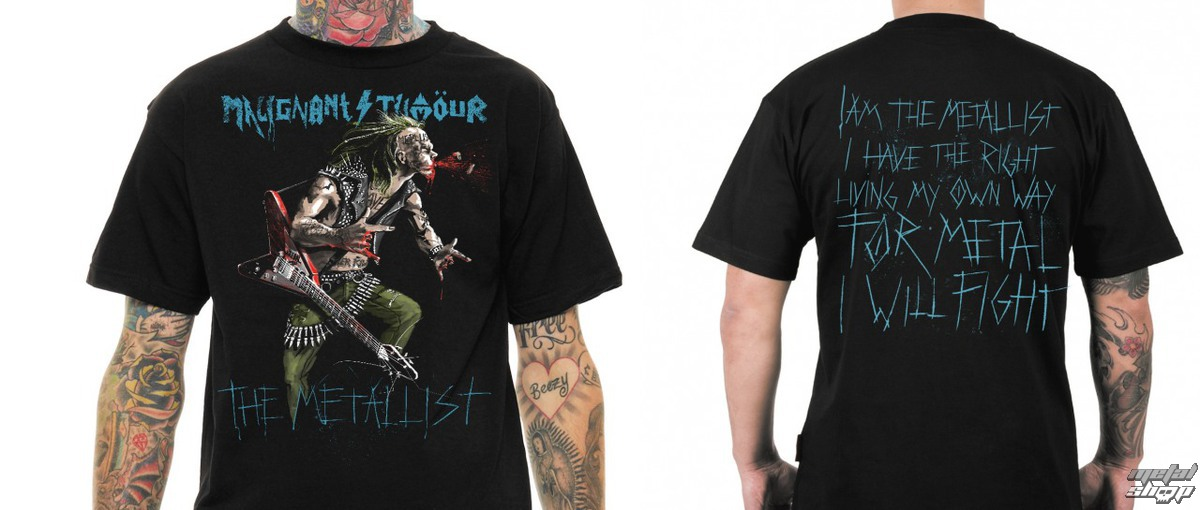t-shirt metal men's Malignant Tumour - THE METALLIST WITH GUITAR - NNM
