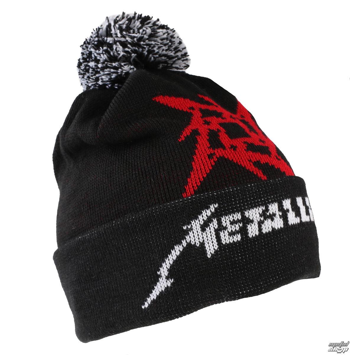Official Metallica Glitch Star Logo Black Woven Bobble Hat