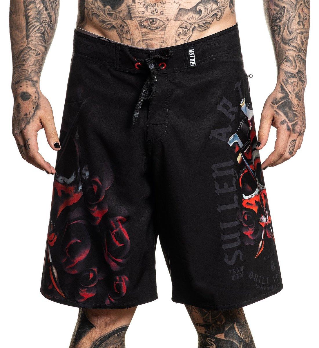 2d92d70197 Men's shorts (swimsuit) SULLEN - PANCHO - BLACK - SCM2331_BK - metal ...