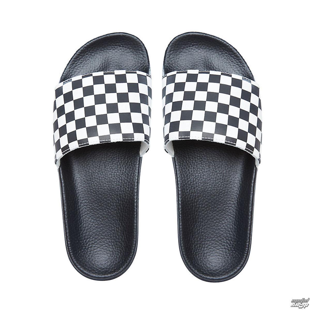 Slide OnCheckerboardBlack V4KIIP9 men sandals White VANS uJTFK3l1c