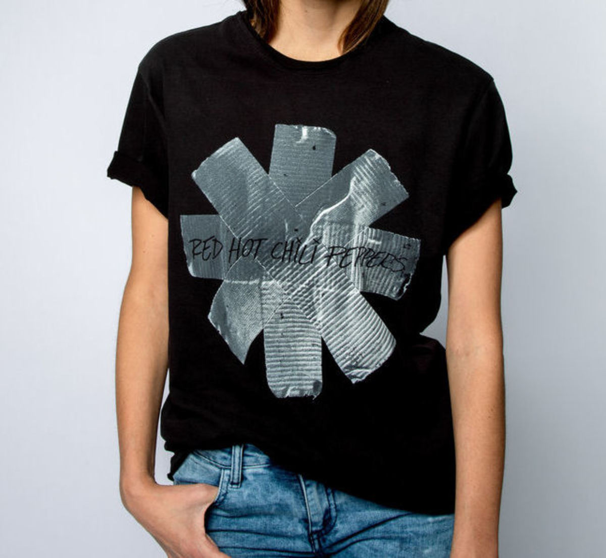 AMPLIFIED RED HOT CHILLI PEPPERS CHARCOAL MEN/'S T-SHIRT