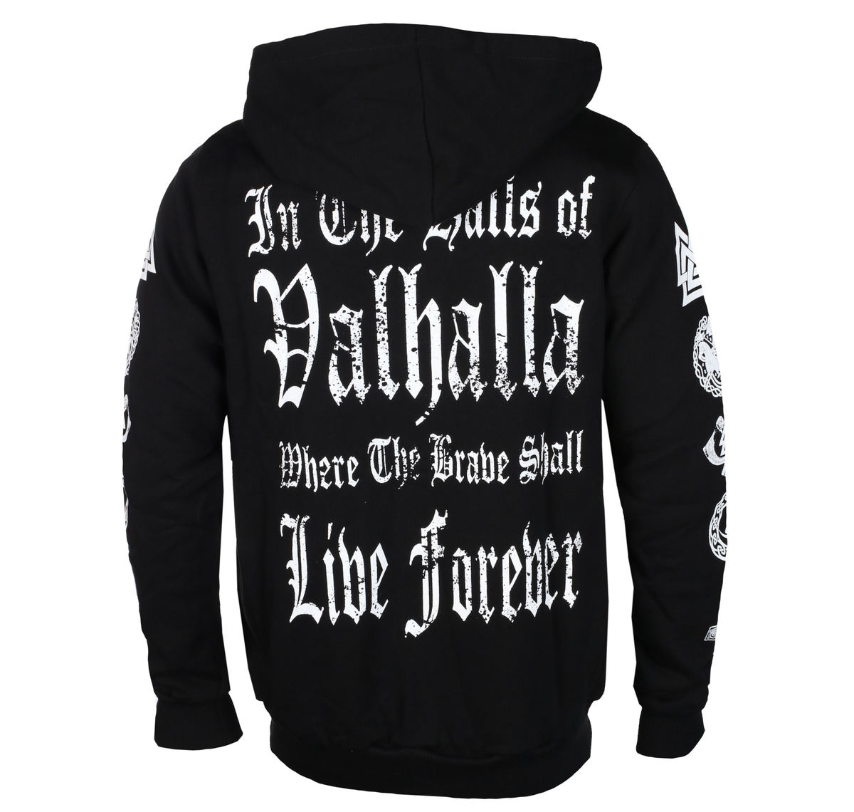 fca73d53a1706 hoodie men s - I AM A WARRIOR - VICTORY OR VALHALLA - VOV005 - metal ...