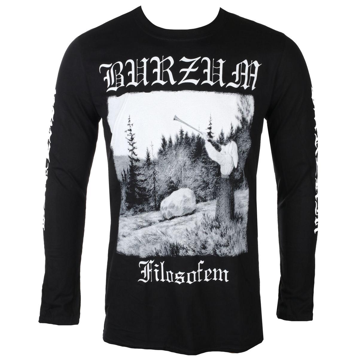 t-shirt metal men's Burzum - FILOSOFEM 2018 - PLASTIC HEAD ...