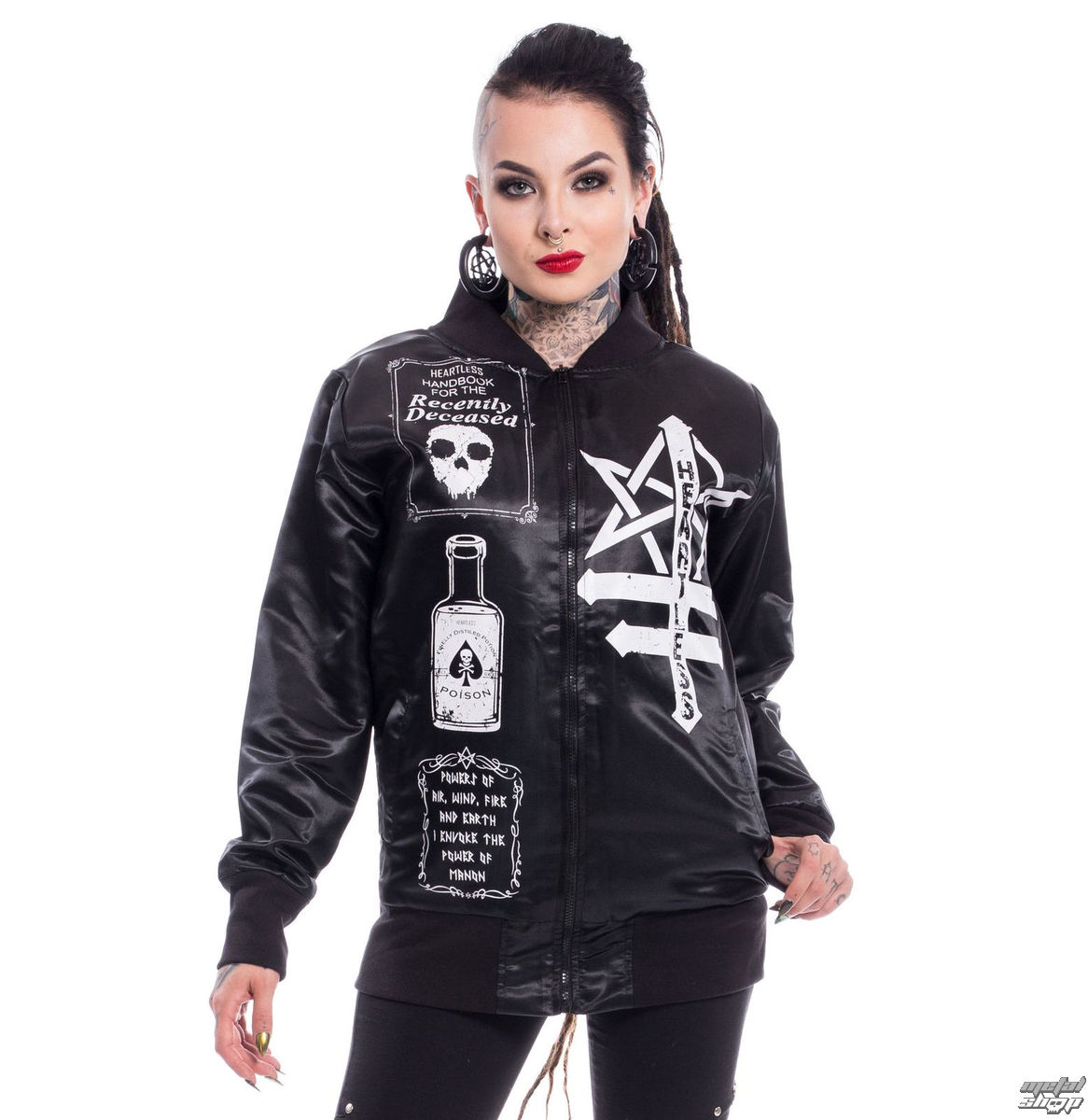 spring/fall jacket women's - SIT WITH US VARSITY - HEARTLESS