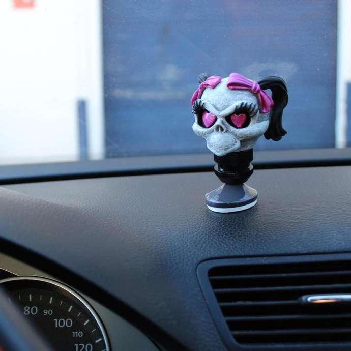 decoration (head gear lever) LETHAL THREAT - Girl Skull Shift Knob