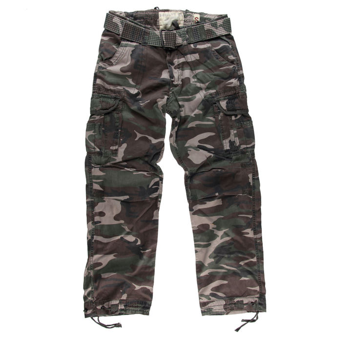 pants men SURPLUS - PREMIUM VINTAGE TR. - WOODLAND