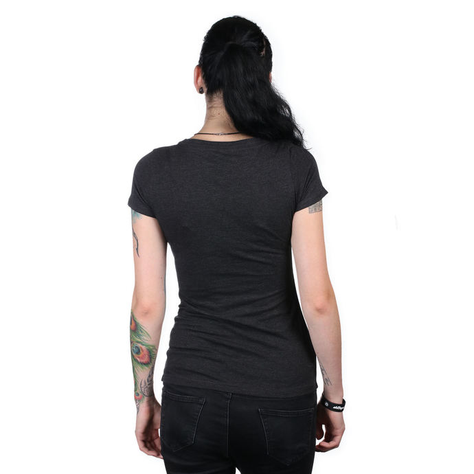 t-shirt street women's - IKON SCOOP BLK - METAL MULISHA