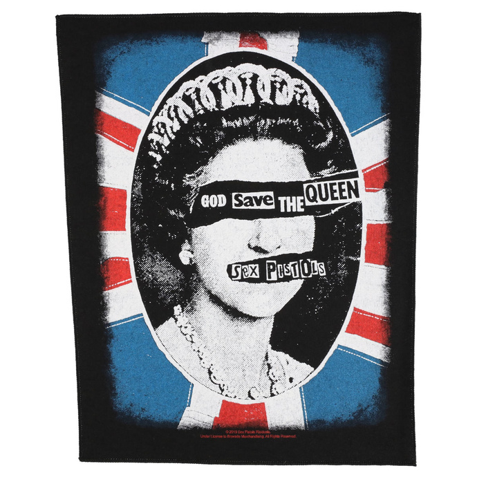 Large patch Sex Pistols - God Save The Queen - RAZAMATAZ
