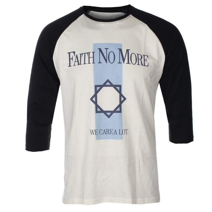 Men's t-shirt with 3/4 sleeves FAITH NO MORE - WE CARE A LOT - ECRU / BLACK RAGLAN - GOT TO HAVE IT