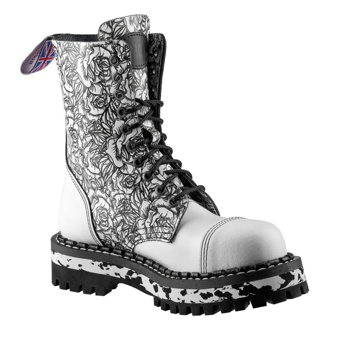 boots STEADY´S - 10 eyelet - White Rose