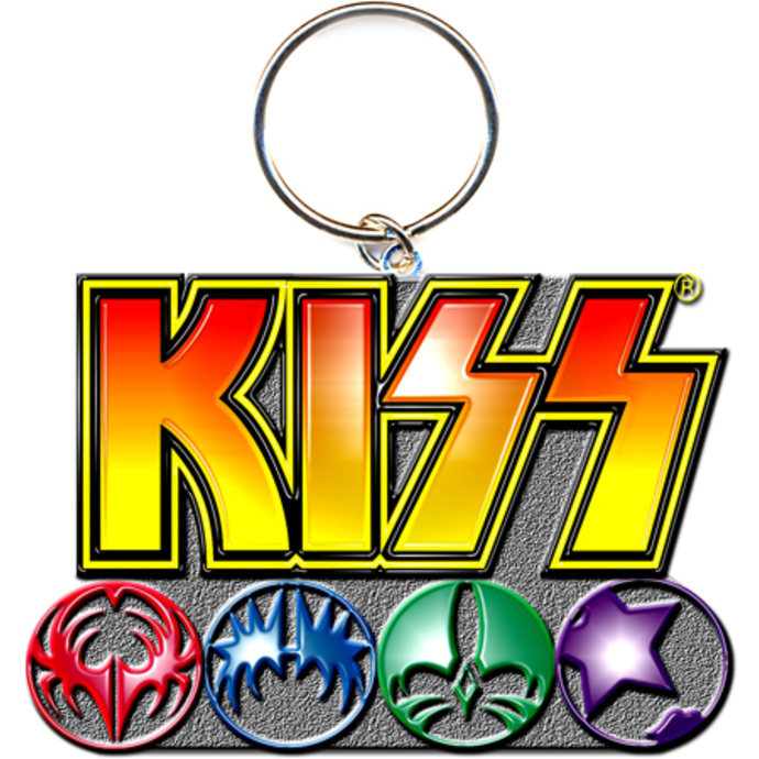 key ring - pendant KISS (Logo & Icons) - ROCK OFF