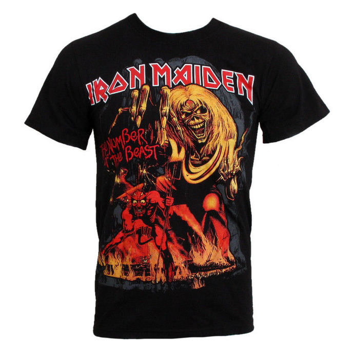 t-shirt men Iron Maiden - The Number of the Beast - EMI