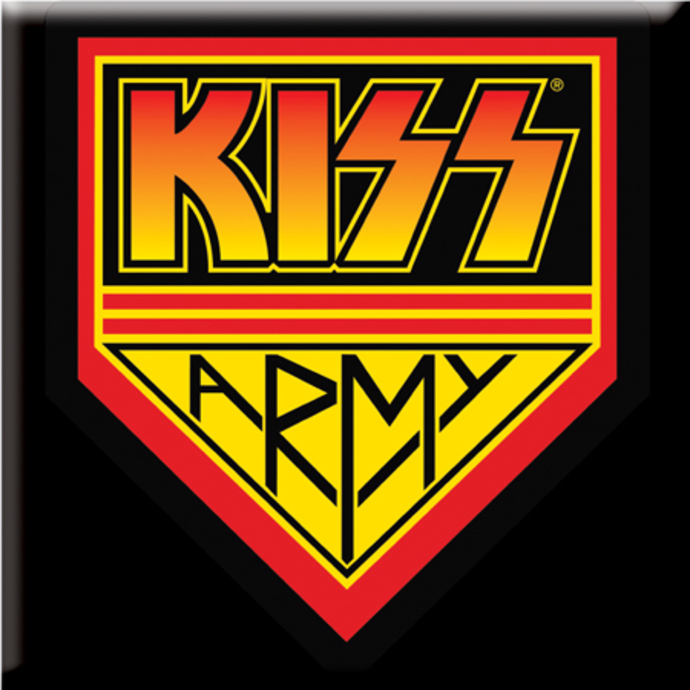 magnet Kiss - Metal Magnet Square Kiss Army - ROCK OFF