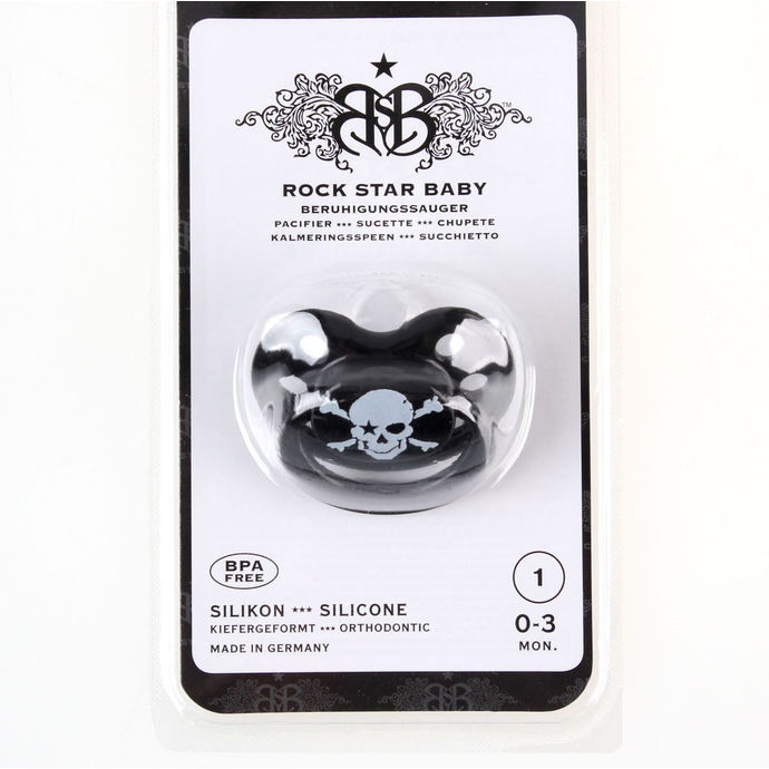 pacifier silicone ROCK STAR BABY - Pirate Black