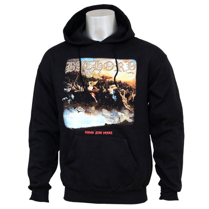 hoodie men Bathory - Blood Fire Death
