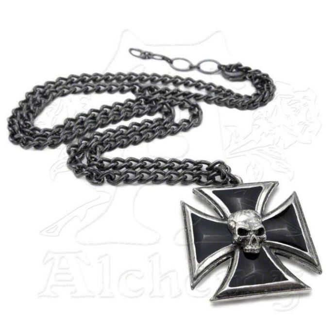 necklace Black Knight's Cross ALCHEMY GOTHIC