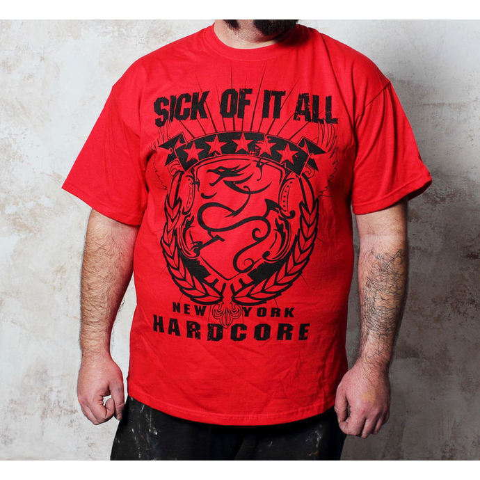 t-shirt metal men's Sick of it All - HC Crest - Buckaneer